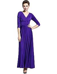 636746f72 medeshe Mujer Cadbury púrpura Suelo longitud vestido de fiesta dama Maxi  vestido