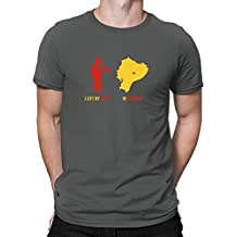 Teeburon I LEFT MY HEART IN Ecuador MAP Camiseta