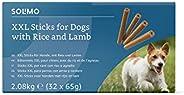 Amazon-Marke: Solimo - Hundeleckerli: Lamm & Reis Kaustangen ohne künstliche Aromastoffe (32 Stück x 65