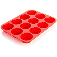 French Kuisine ® Forme per Muffin in Silicone (12 dolci)