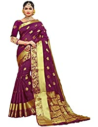 ac6b9f833b Women's New Designer Cotton Silk Rani Pink Color Saree with Blouse  (Denim-Bandhan-