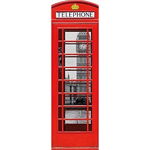 Londra - Cabina Telefonica Rossa Con Big Ben E Tamigi, Collage, 1 Parte Poster Carta (Box Parati)