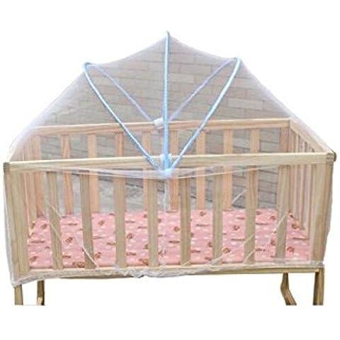 YARBAR Nueva plegable del bebé Nursery cama para bebé del pabellón del pesebre Safty Arco Mosquitera Red tienda del juego de