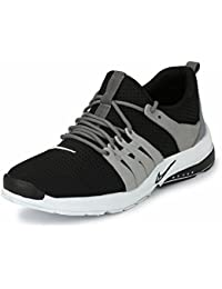 Fucasso Men's Smart Fit Grey Black Sports Shoes
