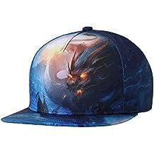 NUZADA Snapback Cap Sombrero con Visera Plano Estampado Dragón Gorra Unisex  para Hombre Mujer Verano Playa 266ba2c2a89