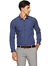 Peter England Men's Solid Slim Fit Formal Shirt