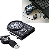 SLB Works Brand New Mini Vacuum USB Cooler Air Extracting Cooling Pad Fan For Laptop PC Notebook Mac