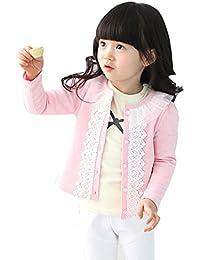 Feitong Chaqueta de punto suave con encaje para niña