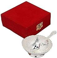 Interlife Gift Studio Handmade Metal Dessert Bowls, 2-Piece,Silver (skinterlife1)