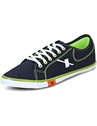 Sparx Men Navy Blue & Flourscent Green Casual Shoes (SM-283)