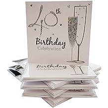 Einladungskarten Für Den 40. Geburtstag, Holographisch, Inkl. Umschlägen,  36 Stück