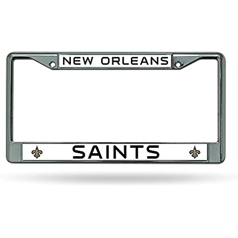 NFL New Orleans Saints Chrome Licensed Plate