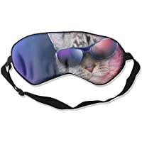 Eye Mask Eyeshade Cool Cat Sunglasses Sleep Mask Blindfold Eyepatch Adjustable Head Strap preisvergleich bei billige-tabletten.eu