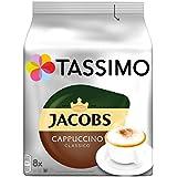 Tassimo Jacobs Cappuccino Classico, 5er Pack Kaffeespezialität T Discs (5 x 8 Getränke)