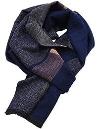 Fansi 390 5000 1PC écharpe Bicolore écharpe pour Hommes écharpe épaisse  Style Gentleman Chaud Printemps e520e265996