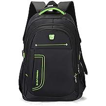 Ruanlei @ mochilas hombre casual impermeable/laptop backpack/Mochila de Negocio / Mochila Portátil Impermeable Negocios multifunción USB de alta capacidad de doble bolsa de hombro, verde de 14 pulg.