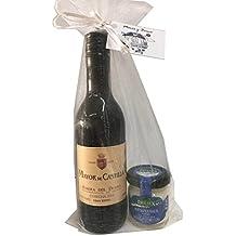 Detalle para bodas compuesto de vino Mayor de Castilla D.O. Ribera del Duero y crema de