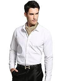 Prettystern - Hommes cravate foulard 100% Soie TWILL 2 couches de lier echarpe Monsieur Paisley - couleur et choix de motif