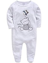 17b64aacd39cc Pyjama Bébé Filles Garçons Combinaisons en Coton Grenouillères Bodys à  Manches Longues Cartoon Outfits ...