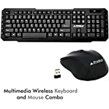 ProDot TLC-107+145 2.4Ghz Multimedia Wireless Keyboard And Mouse Combo For PC, Laptop, Android TV And Smart TV (Solid Black)