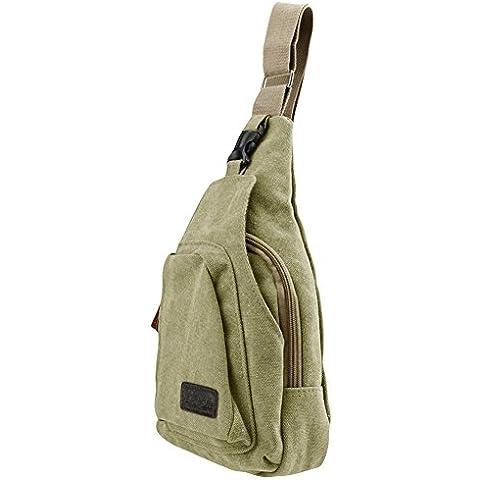 deportes al aire libre casual lienzo bolso de hombro Crossbody Bolsa Mochila de pecho de desequilibrio