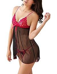 2f441880e8 BoldnYoung Honeymoon Lingerie for Women Ladies and Girls Nightwear Super  Soft Net Babydoll Dress Sleepwear