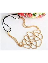 villexun Fashion Normic Celebrity Diadema tejida oro accesorio para el pelo bandas de pelo tocado