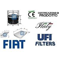 Kit 3 filtri tagliando UFI per Fiat Punto (188) 1.2 8V 44 Kw 60 Hp 11/05>
