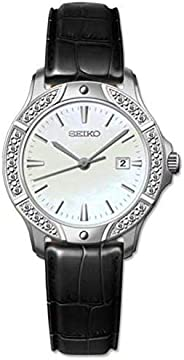 Seiko for Women - Analog SUR873P1 Leather Watch