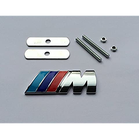BMW M Power Sport Tech Paket frontal Metal cromado rejilla parrilla emblema Logo