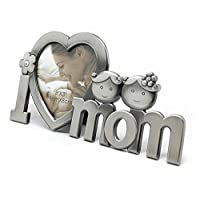 Metal- I Love Mom- Photo Frame for mother day valentine and anniversary