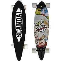 SCANDAL Longboard Cruiser Skateboard Abec 11 - High Speed 104 cm Kanadische Ahornschichten Long Board für Anfänger Jungen und Mädchen