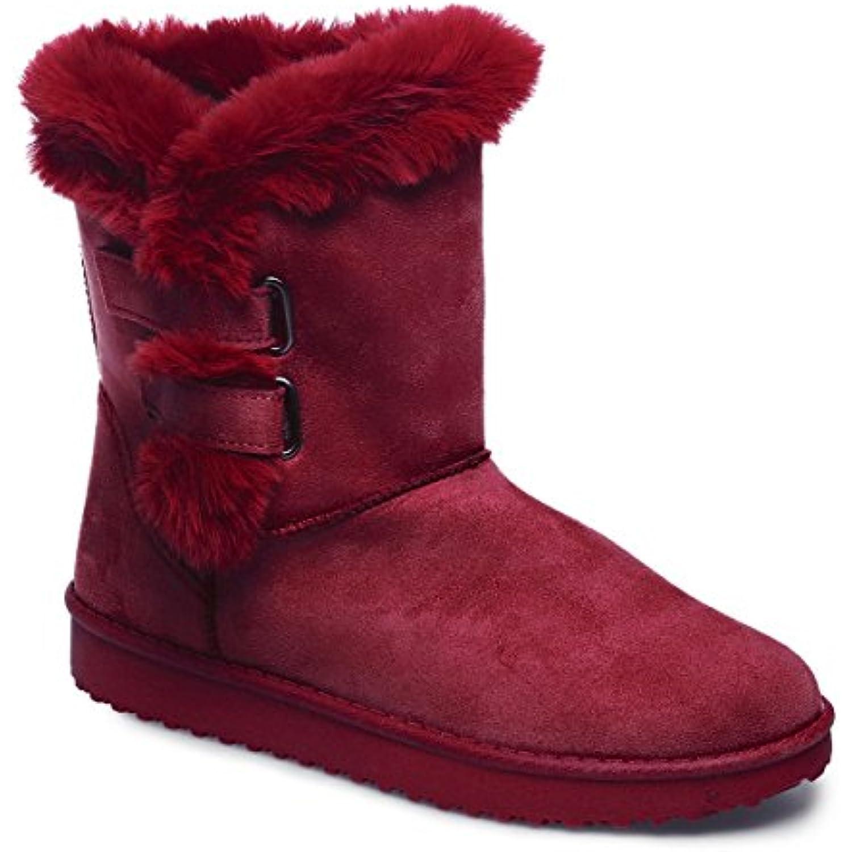 La Modeuse - Boots en suédine doté doté doté d'une Fausse Fourrure - B01N7QU6CO - 73d798