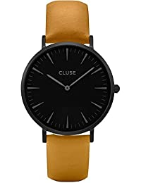 Cluse CL18508, Reloj Analógico Automático para Mujer con Correa de Cuero