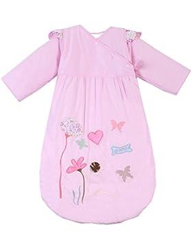 Chilsuessy Baby Sommer Schlafsack ungefüttert 0.5 Tog - Kinder Kugelschlafsack mit abnehmbar Langarm - Pink Lotus