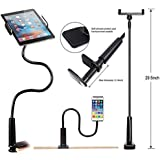 CellPhonez Gooseneck Flexible Stand for Mobiles and Tablets. (Black)