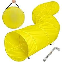 TecTake XXL túnel de ejercicio para perros cueva plegable juego agility 500x60cm amarillo