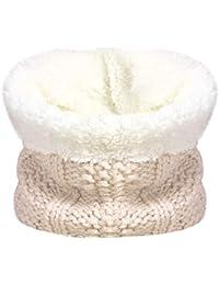 TOSKATOK Des Gamins Filles Hiver Nervure Point de Semence Thermique Chaud  Confortable Doublure Polaire Cache-cou Snood Echarpe… d00fb48bd01