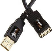 AmazonBasics 1IGG USB 2.0-Verlängerungskabel A-Stecker auf A-Buchse, 2 m,Schwarz