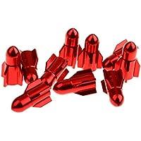 Gazechimp - Casquillos de válvula para Neumático (Pack de 10 unidades)  , rojo