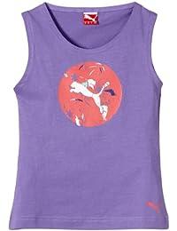 PUMA graphic débardeur pour fille sL t-shirt no.1 avec logo