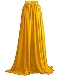 CoutureBridal® Femme Jupe Longue Jupe Maxi pour Soirée Mariage Haute Taille  Chiffon 7e470f2a1265