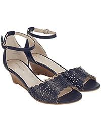Monsoon Petites sandales ajourées à semelle compensée Zahra - Femme
