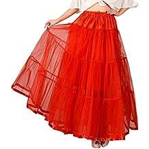 DaisyFormals Tobillo Largo Retro Enagua tul niña 50s Vintage Rockabilly Tutu falda, 100cm Longitud