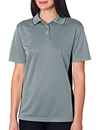 UltraClub adulto relaxed-fit bicolor malla Polo camiseta