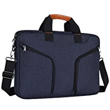Eono 15-16 inch Laptop Shoulder Bag Compatible with 16-inch MacBook Pro 2019 A2141, 15.4 inch MacBook Pro A1398, Dell XPS 15, Carrying Sleeve Handbag with Handle & Accessory Pockets, Navy Blue