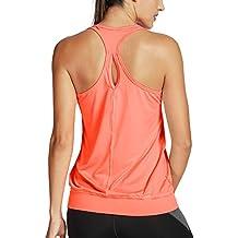 bad944a86c60 abbigliamento sportivo donna palestra - Arancione - Amazon.it