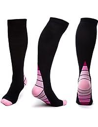 Calcetines de compresión graduada para hombres y mujeres para running, largos vuelos, ciclismo, senderismo, enfermeros o embarazadas…