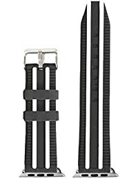 42mm negro blanco silicona banda reloj de repuesto para Apple iWatch ukwb1117F42jb