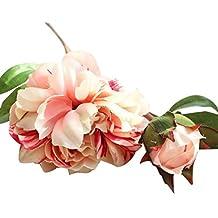 Flores Artificiales,Xinan Artificial Flor de Peonía Decoración 2017 Nuevo (Rosa)
